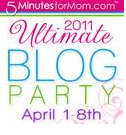 """""""5 Minutes for Mom"""" """"Ultimate Blog Party 2011"""" """"Family and Life in Las Vegas"""" """"Must Have Baby Product"""" """"Giveaway"""""""