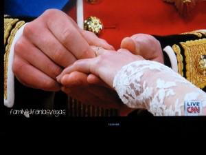 """""""Royal Wedding"""" """"William & Kate"""" """"exchanging rings"""""""