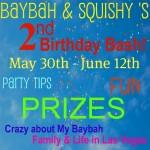 """""""Squishy and Baybah"""" """"Birthday"""" """"Blog Bash"""" """"Giveaway"""""""