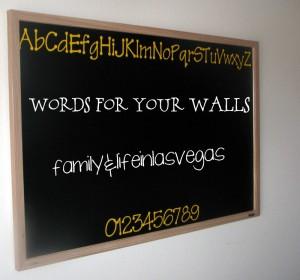 """Wall Decals"" ""Alphabet Chalkboard"" ""Wall Decor"""