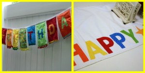 """Birthday Banner"" ""Birthday Table Runner"""