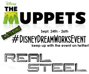 """""""Disney"""" """"DreamWorks Pictures"""" """"Real Steel"""" """"The Muppets"""""""