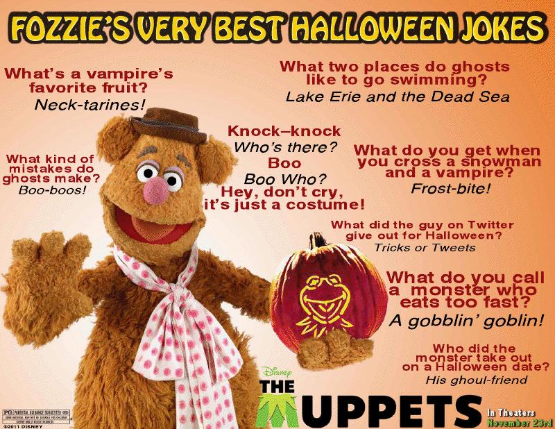 """Disney"" ""Disney's The Muppets"" ""Halloween Jokes"" ""Jokes"" ""Fozzie Bear"""