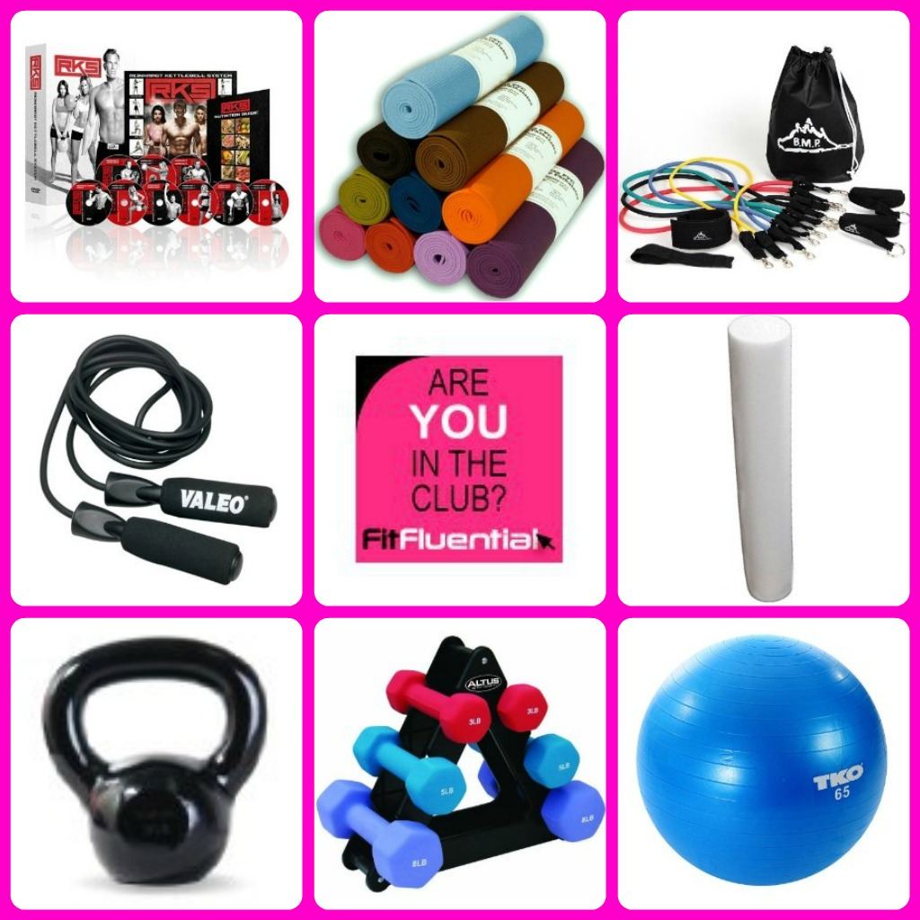"""""""Home Gym"""" """"Tools for exercise at home"""" """"Fitness"""" """"Fitfluential"""""""