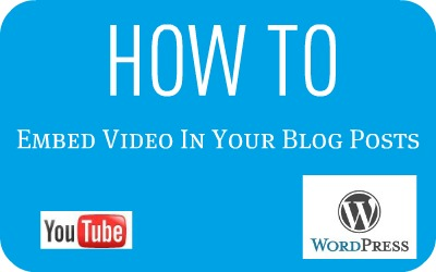 """""""YouTube"""" """"WordPress"""" """"How To Embed Video"""""""