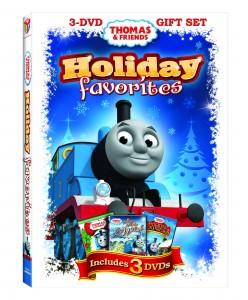 """Thomas & Friends"" ""Thomas the Train"" ""Thomas & Friends Holiday Favorites 3 DVD Gift Set"" ""Holiday Dvd"" ""Lionsgate"" ""HIT Entertainment"""