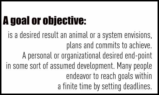 """Definition of a goal"" ""Define Goal"""