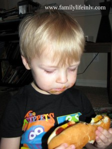 """Hot Dog Eating"" ""My first Hot Dog"" ""Hot Dog"""