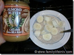"""""""Almond Butter and Banana Oatmeal"""" """"FitFluential"""" """"Fitness"""" """"Fitness Goals"""""""