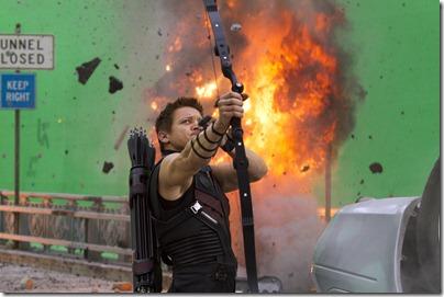 """Marvel's The Avengers""</p> <p>Jeremy Renner on Set as HAWKEYE</p> <p>Ph: Zade Rosenthal </p> <p>© 2011 MVLFFLLC. TM & © 2011 Marvel. All Rights Reserved."