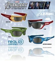 Avengers 3D Glasses!