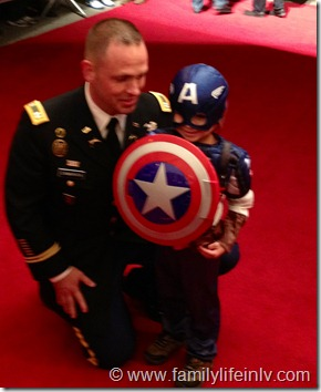 Captain America and his Military Dad