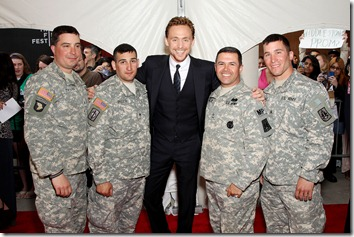 Tom Hiddleston with Military