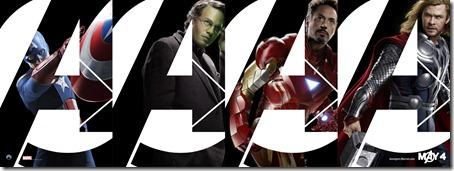 The Avengers Thor, Ironman, The Hulk, Captian America