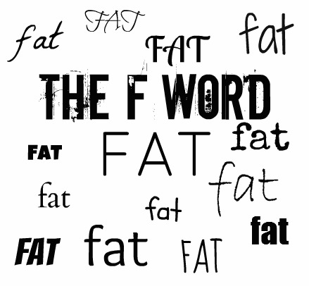 """""""Fat"""" """"The F Word"""" """"Being Fat"""" """"Negative Use of Fat"""""""