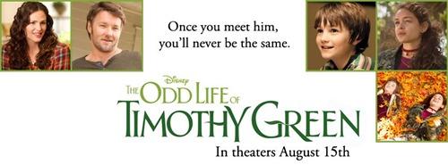 """Disney Movie"" ""The Odd Life of Timothy Green Movie Review"" ""Movie Review"" ""Timothy Green"""