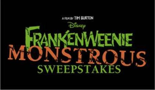 """""""Frankenweenie"""" """"Win a Trip To Disneyland"""" """"Tim Burton"""" """"Disney"""""""