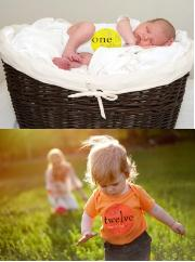 """""""Monthly Milestones"""" """"Baby Stickers by Month"""" """"Growth Number Stickers for Baby"""" """"Photography"""""""