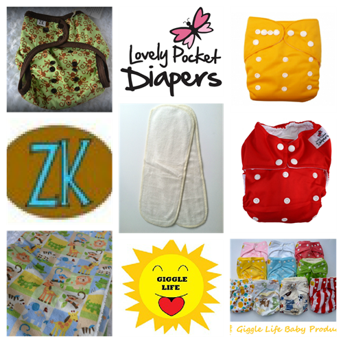 """Cloth Diaper Giveaway"" ""Cloth Diapers"" ""Lovely Pocket Diapers"" ""ZookiesCrafts"" ""Giggle Life Cloth Diapers"""