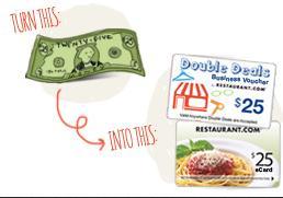 """Double Deals"" ""Restaurant.com"" ""Las Vegas Deals"""