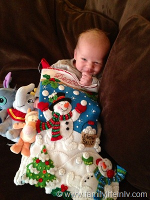 """Christmas"" ""Family"" ""Family Holiday"" ""Stockings"" ""Christmas Tree"" ""Baby-wearing"" ""Newborn"""