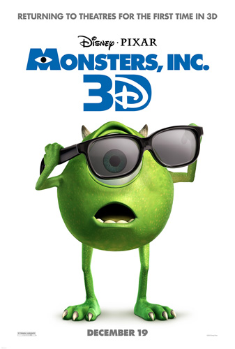 """Monsters, Inc"" ""Disney Pixar"" ""3D Movie"""
