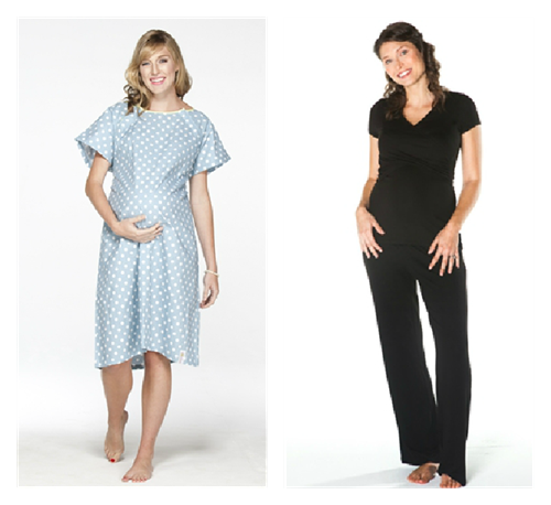"""""""Designer Maternity Gown"""" """"Nursing Loungewear"""" """"What's in Your Hospital Bag"""" """"Packing for Labor and Delivery"""""""
