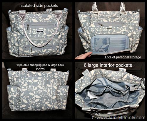 """""""JJ Cole"""" """"JJ Cole Collections Caprice Diaper Bag"""" """"Caprice Diaper Bag Review"""" """"Diaper Bag for Cloth Diapers"""" """"Sylish Diaper Bag"""" """"Big Diaper Bag"""" """"diaper bag features"""""""