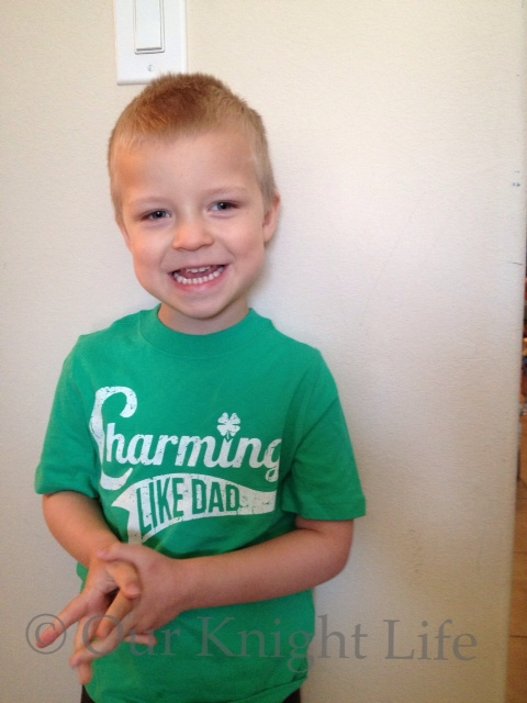 """""""3 Year Old"""" """"Charming T-shirt"""" """"St. Patrick's Day"""""""