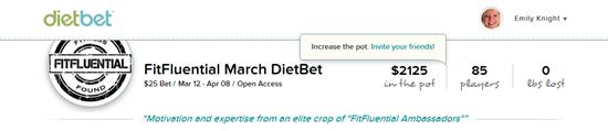 """""""DietBet"""" """"Diet Bet"""" """"Lose Weight"""" """"Fitfluential"""" """"Make Money"""" """""""