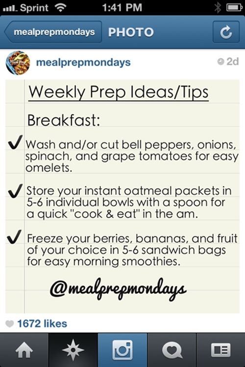 """""""Meal Prep Mondays"""" """"Meal Preperation"""" """"Weekly Meal Planning"""" """"breakfast ideas"""""""
