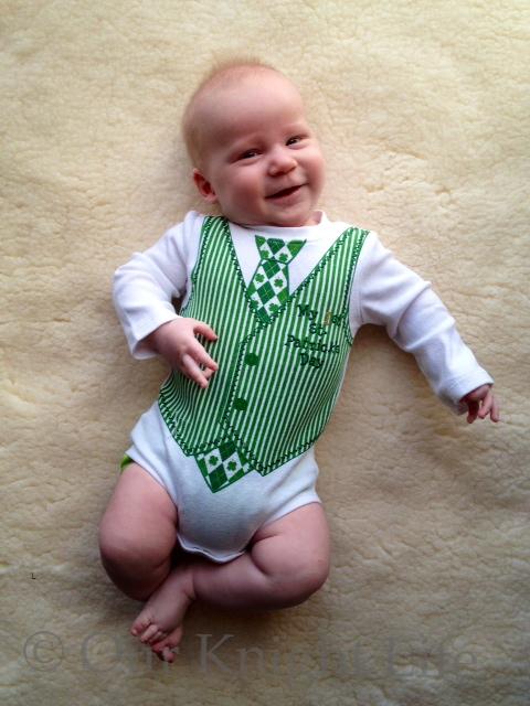 """""""St. Patrick's Day"""" """"Onesie"""" """"Baby"""" """"Happy Baby"""""""