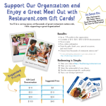 Looking for a Fundraiser for your Local Organization? Check out Restaurant.com!