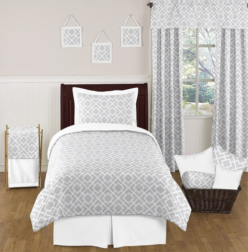 Modern Grey Bed Set