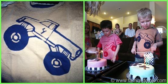 Monster Truck Birthday Shirts