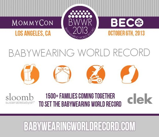 """""""Babywearing World Record"""" """"MommyCon"""" """"Sloom"""" """"Clek"""" """"Beco"""" """"Beco Baby"""" """"Baby Carriers"""""""