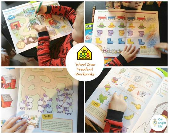 """School Zone"" ""School Zone Workbooks"" ""Preschool"" ""Preschool Workbooks"" ""Homeschooling"""
