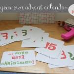 Countdown to Christmas – DIY Advent Calendar #FreePrintable