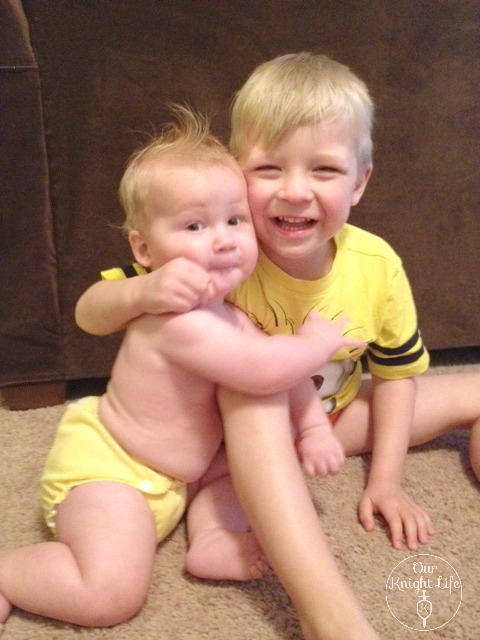 """Siblings"" ""Applecheeks Cloth Diapers"" ""Lemon Zest"" ""Minion Shirt"""