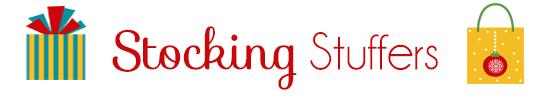 """""""Holiday Gift Guide"""" """"Holiday Gift Guide 2013"""" """"Gift Giving Suggestions"""" """"Stocking Stuffers"""""""