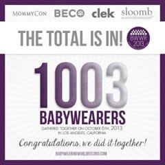 """Babywearing"" ""BWWR"" ""Babywearing World Record"" ""MommyCon"" ""lillebaby"""