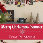 DIY Merry Christmas Banner | #FreePrintable #Tutorial