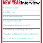 New Year's Interview for Kids (Free Printable)