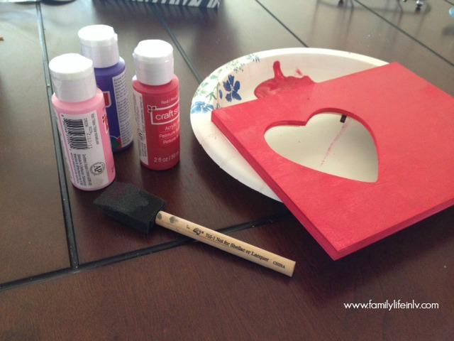 """Valentine's Craft for Kids"" ""Valentne's Day Craft"" ""Handprint Craft"" ""Valentine's Day Handprint Craft"" 'Valentine's Day Frame"""