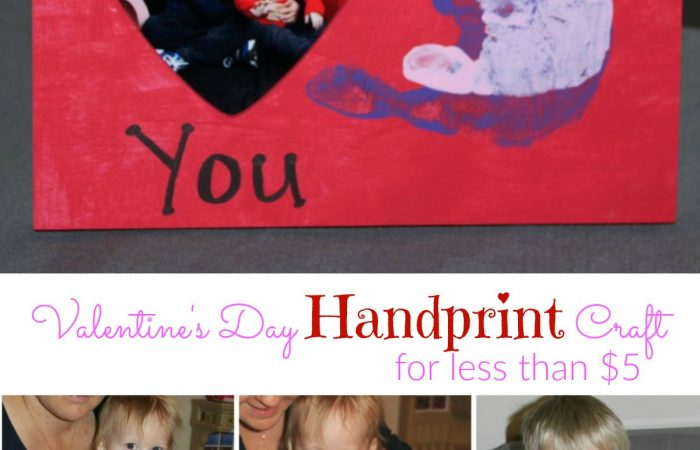 Easy Valentine's Day Handprint Craft for less than $5!