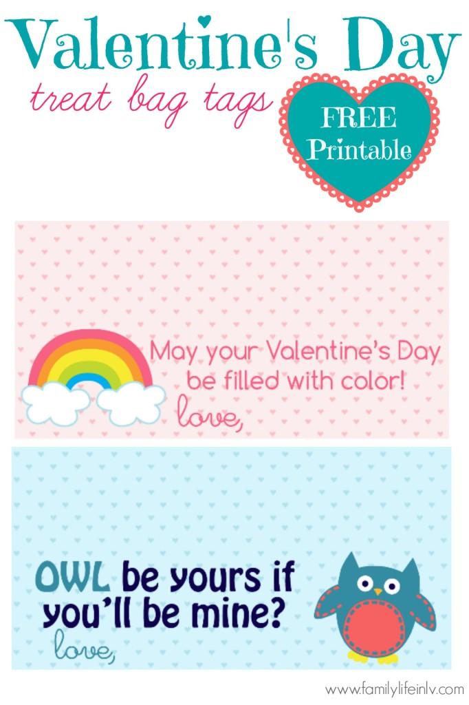 """Free Printable"" ""Valentine's Day"" ""Valentine's Day Treat Bag Tag"" ""Valentine's Day Gift Bag Tag"" 'Valentine's Day Tag"" ""Free Valentines"""