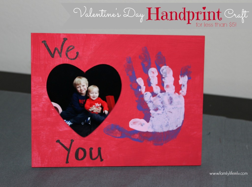 """Valentine's Craft for Kids"" ""Valentne's Day Craft"" ""Handprint Craft"" ""Valentine's Day Handprint Craft"" 'Valentine's Day Frame"""