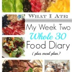 What I Ate Week 2 Whole 30 Food Diary + Week 3 Meal Plan