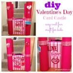 """""""Valentine's Day Craft"""" """"Valentine's Day Card Castle"""" 'Valentine's Day Vard Box"""""""