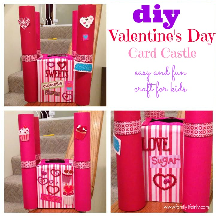 """Valentine's Day Craft"" ""Valentine's Day Card Castle"" 'Valentine's Day Vard Box"""